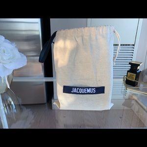 Jacquemus mini in blue Suede